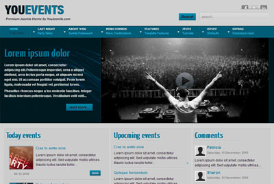 Joomla template gishars blog youevents clubbing joomla template pronofoot35fo Gallery